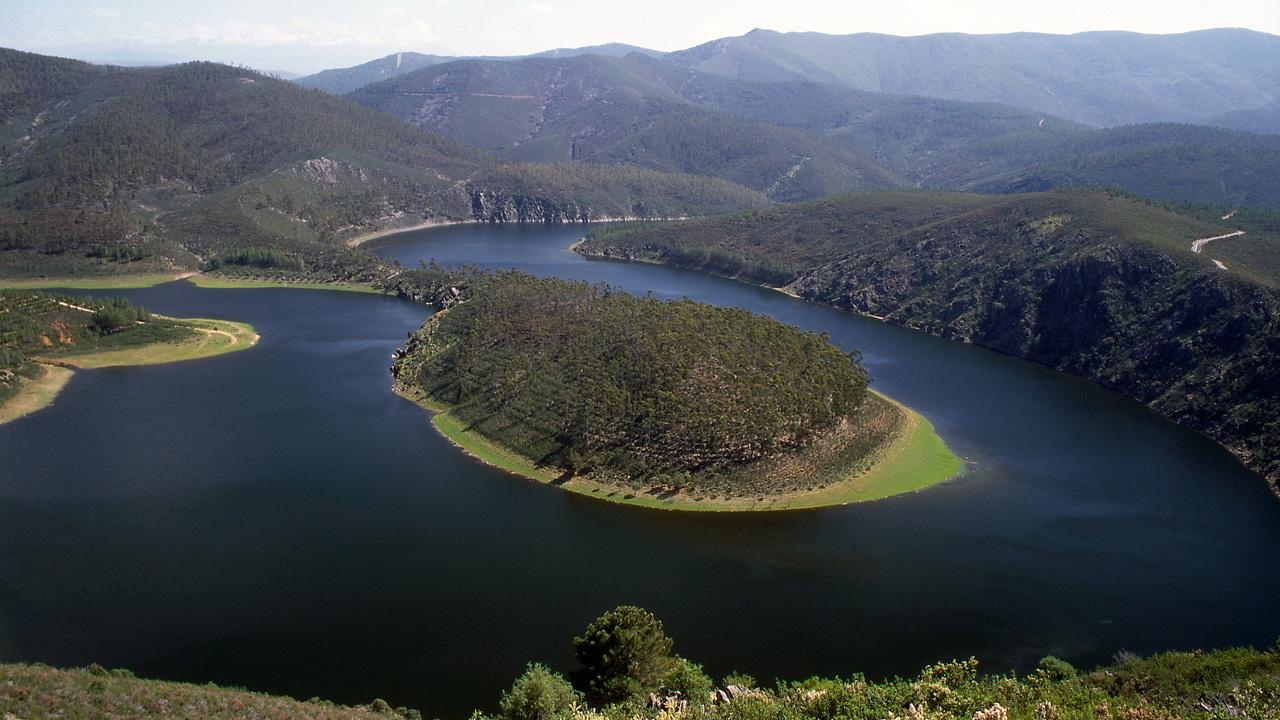 Meandro del Río Alagón en Riomalo de Abajo. Fotografía: ADIC-HURDES.