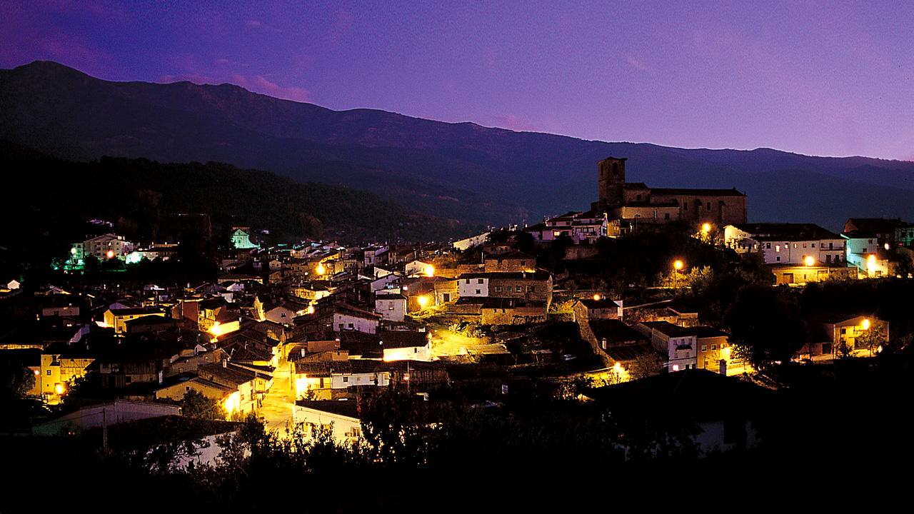 Panorámica de Hervás Noche. Fotografía cedida por DIVA.