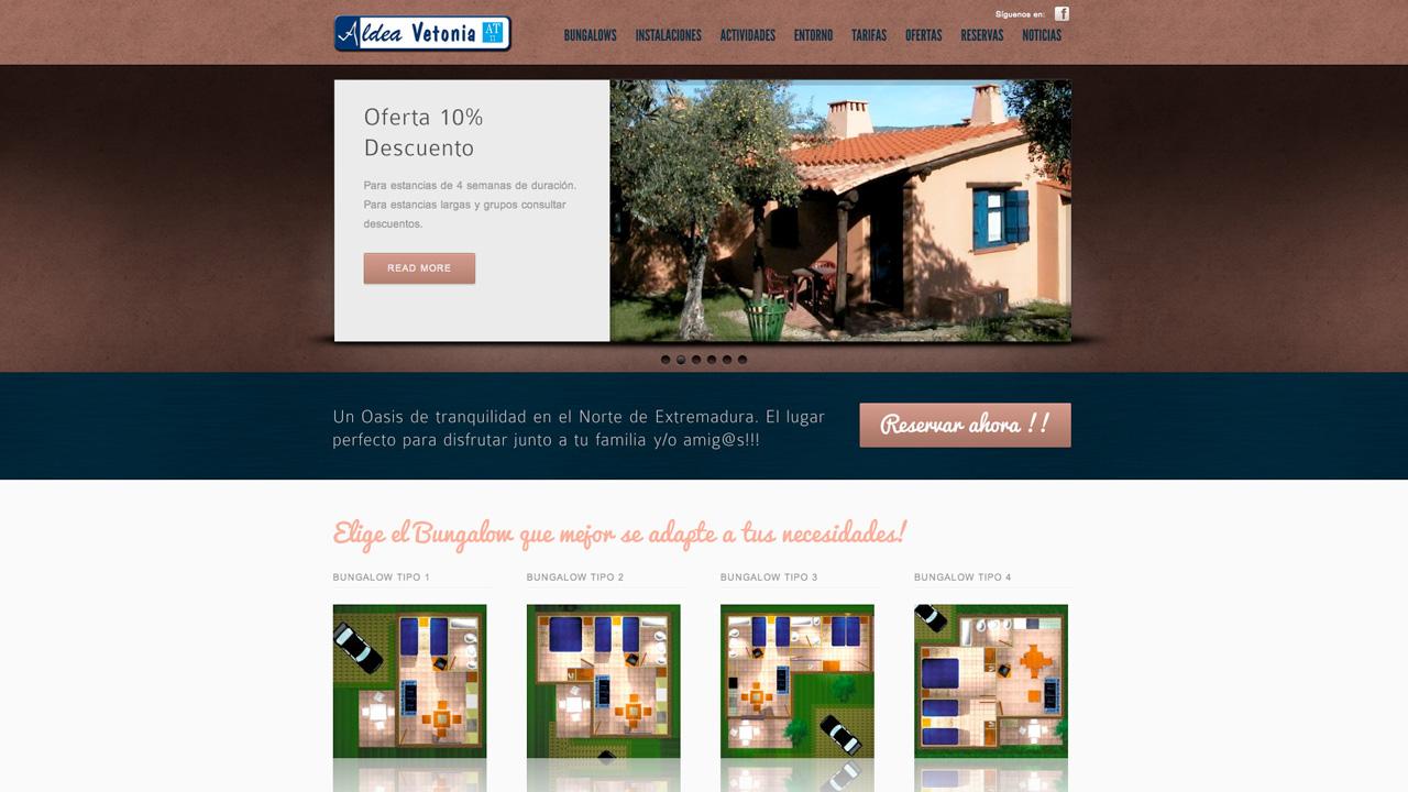 Bienvenidos al nuevo portal web de Aldea Vetonia