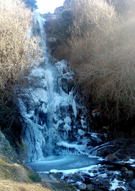 La Chorrera helada. Fotografía cedida por DIVA.