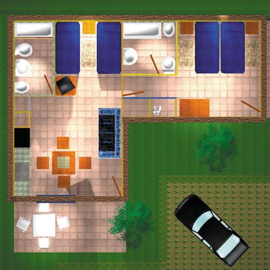 Casita Superior 1 habitación y 2 baños